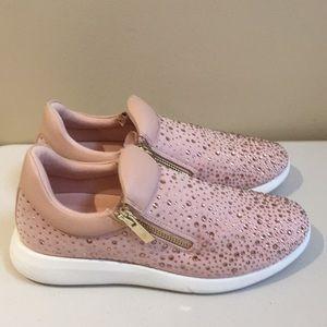 Aldo Ladies Zippered Slip Ons Size 9 Pink …